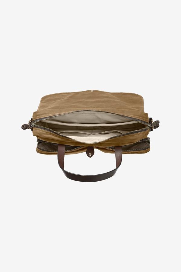 Filson 24 Hour Tin Briefcase - Dark Tan