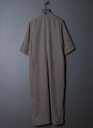 GREI. CLEAN COLLAR GALLERY DRESS - GREY SAGE