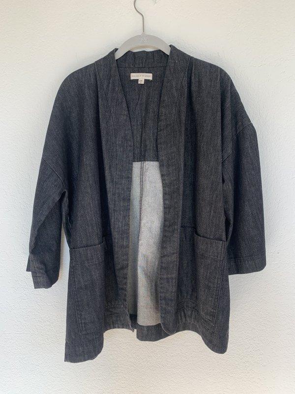 Pre-loved LOOP Micaela Greg Kimono Jacket - Black