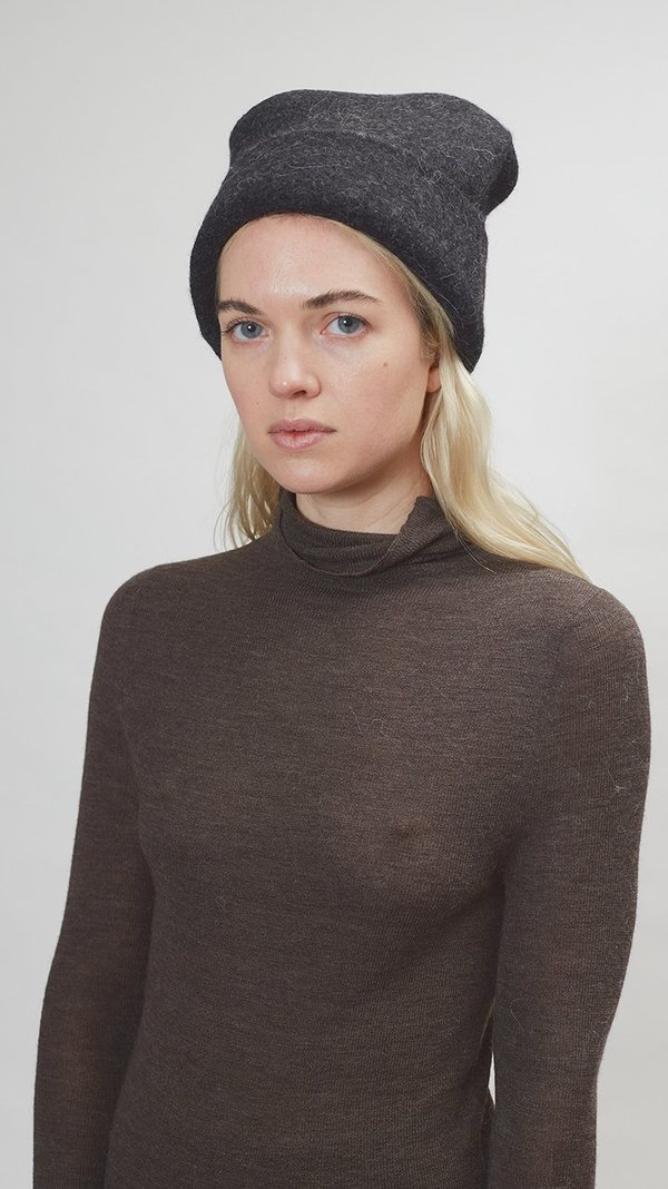 Lauren Manoogian Carpenter Hat - Black Melange