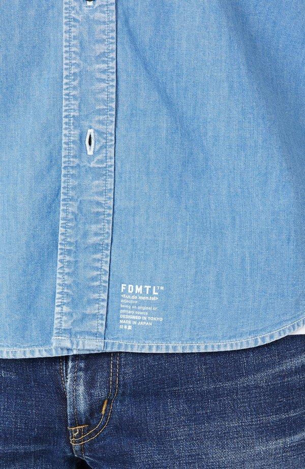 FDMTL Sashiko Denim Shirt - INDIGO