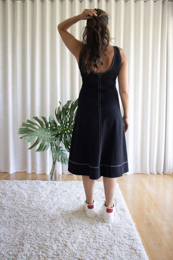 Staud Black Dew Dress