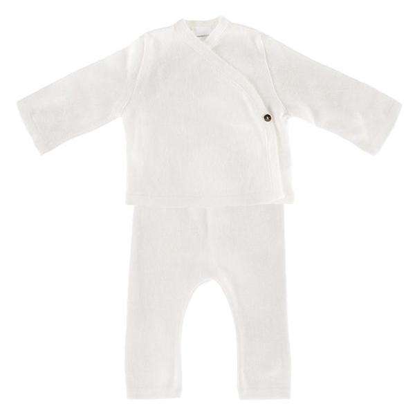 KIDS Pequeno Tocon Baby Two Piece Set - Natural Cream