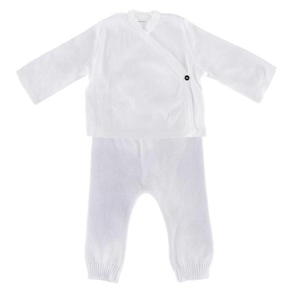 KIDS Pequeno Tocon Baby Two Piece Set - White