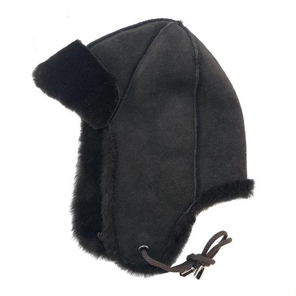 Petit Nord Baby Shearling Helmut Hat Brown