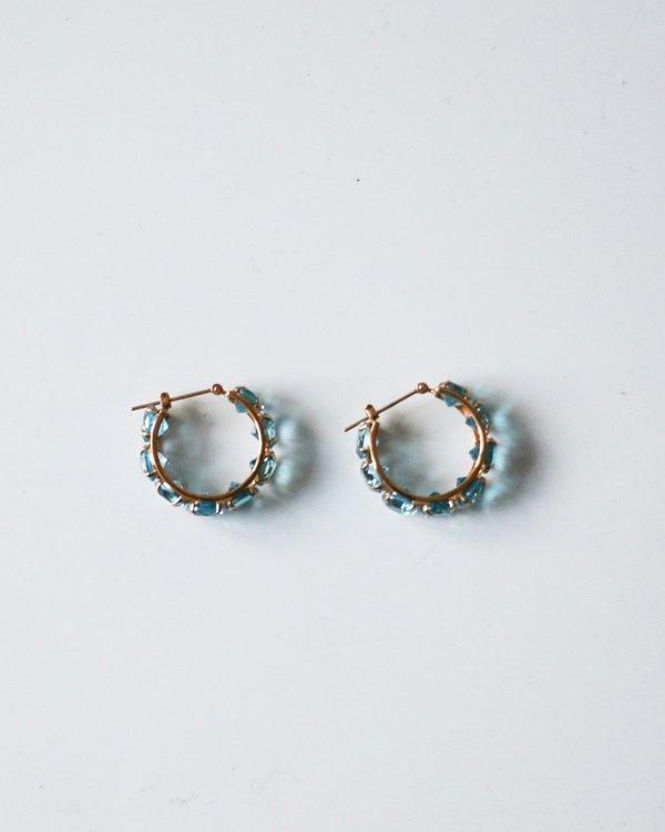 PRE-LOVED Blue Topaz Earrings - Gold/blue