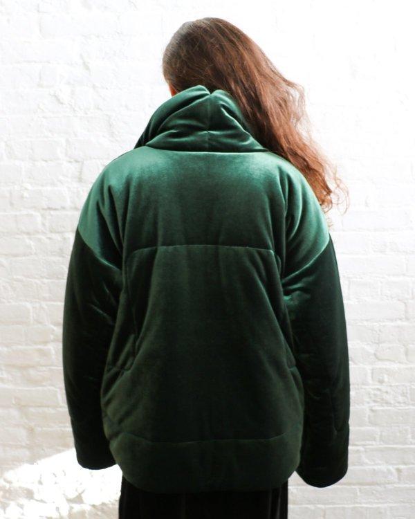 Pre-loved Norma Kamali Sleeping Bag Padded Coat - Green