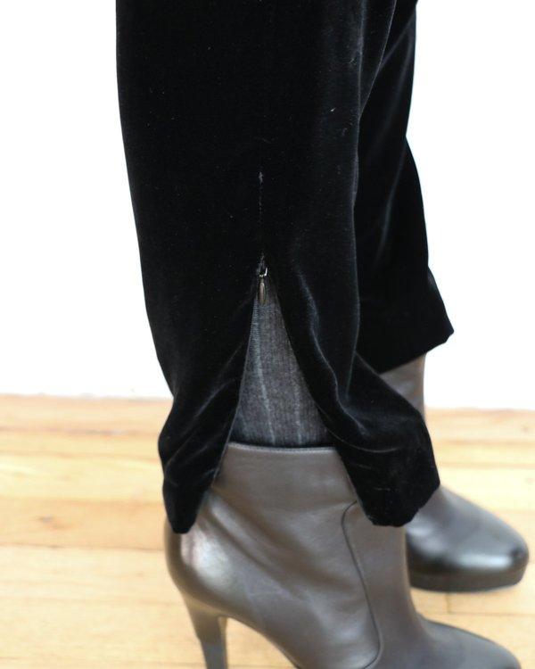 Sandro Velvet Ankle Zip Pants, Size 2