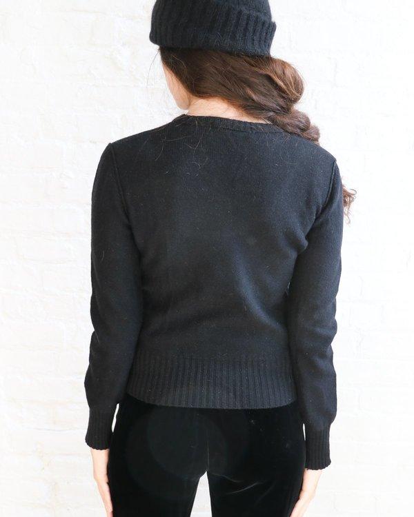 Vintage Sonia Rykiel Lip Sweater - Black