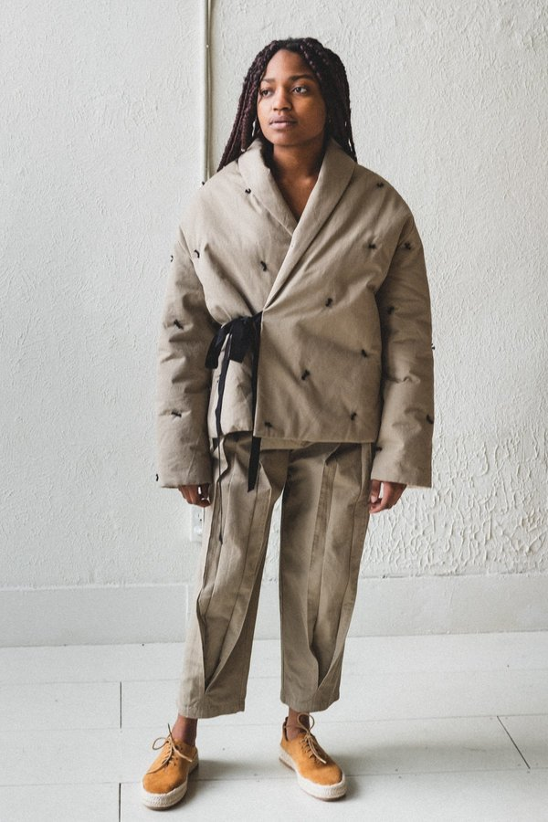 Caron Callahan Estella Coat - Khaki Twill