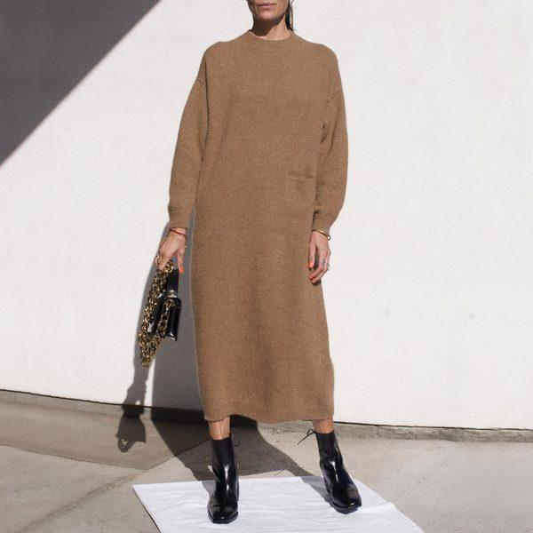 Lauren Manoogian Fluffy Crewneck Dress