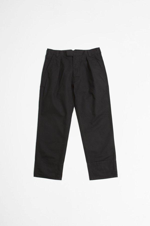 Margaret Howell Wide hem workwear cotton drill trouser - ink
