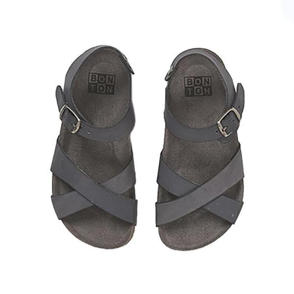 kids Bonton Child German Sandals - Grey