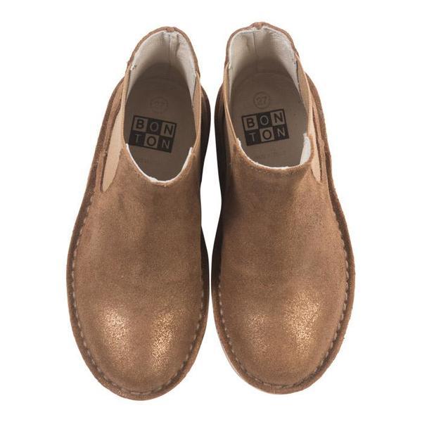 KIDS Bonton Child Leather Boots - Brown