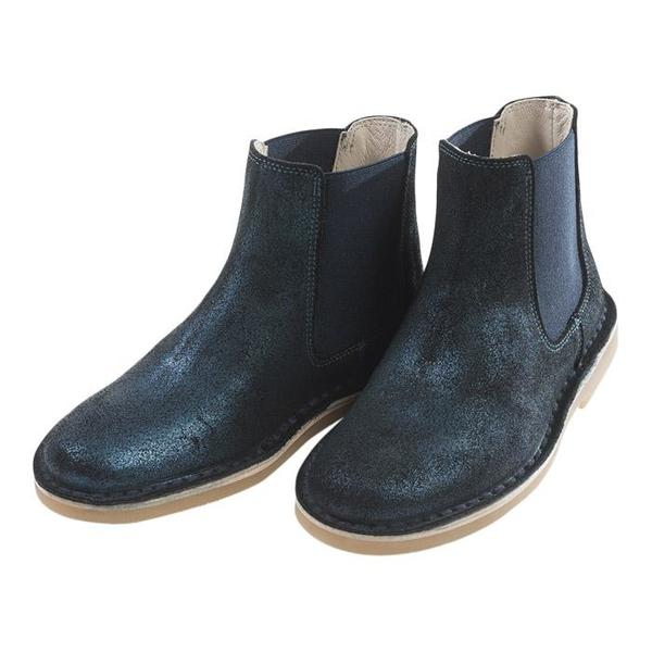 KIDS Bonton Child Leather Boots - Navy Blue