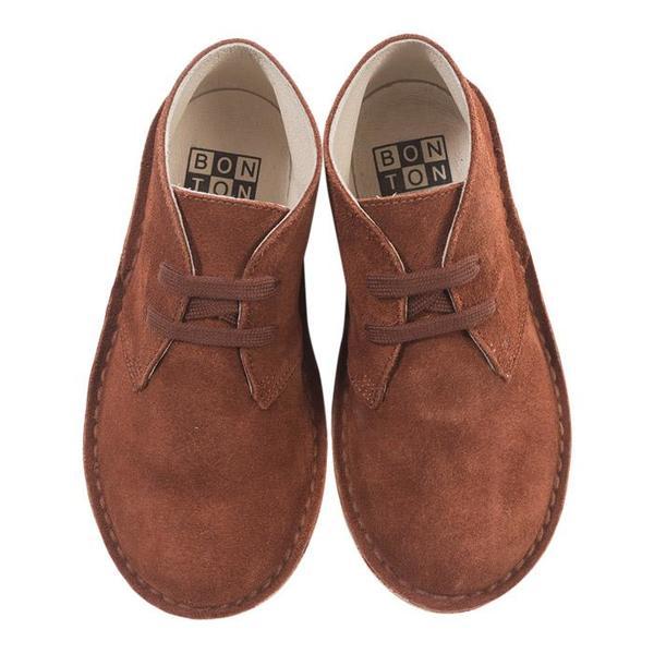 KIDS Bonton Child Safari Suede Boots - Brown
