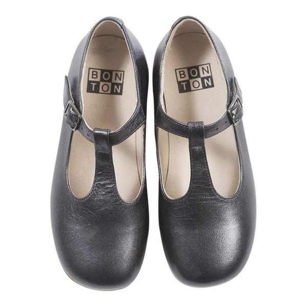 KIDS Bonton Child Salome Ballerina Shoes - Grey