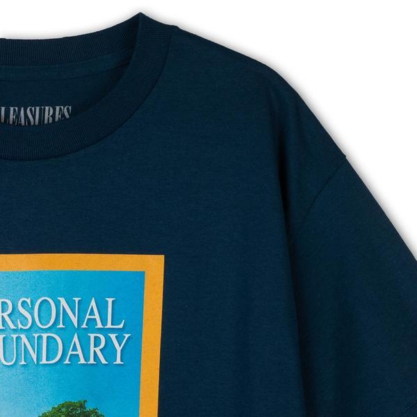 Pleasures Boundary T-shirt - Harbor Blue