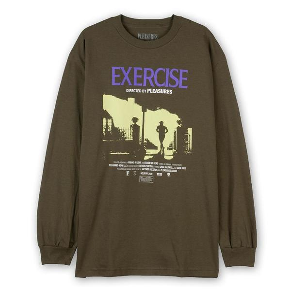 Pleasures Exercise Long Sleeve T-shirt - Olive