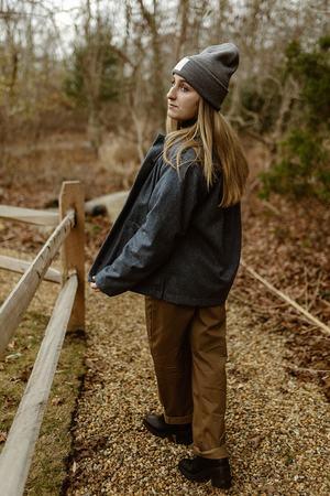 Conrado Nicole Painter Chore Jacket - Blue Wool