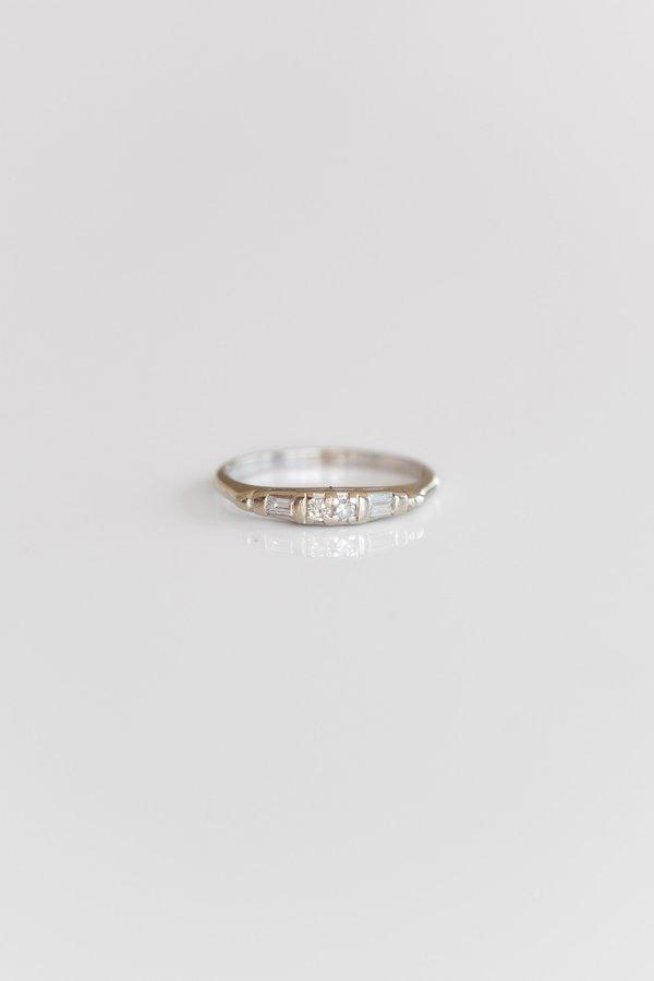 Vintage Diamond Band - 14k White Gold
