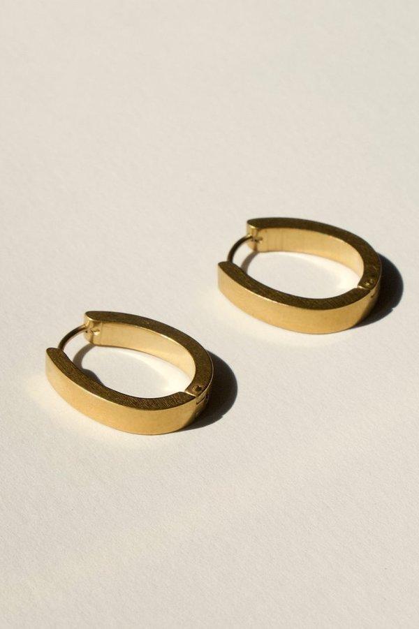 BRIE LEON Solid Drop Sleepers earrings - Gold plating