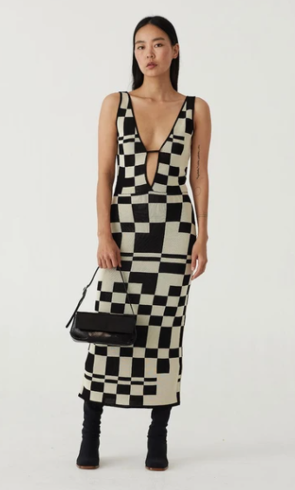 Paloma Wool Westlake Dress - Black Check