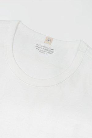 Lady White Co. Clark pocket t-shirt - white