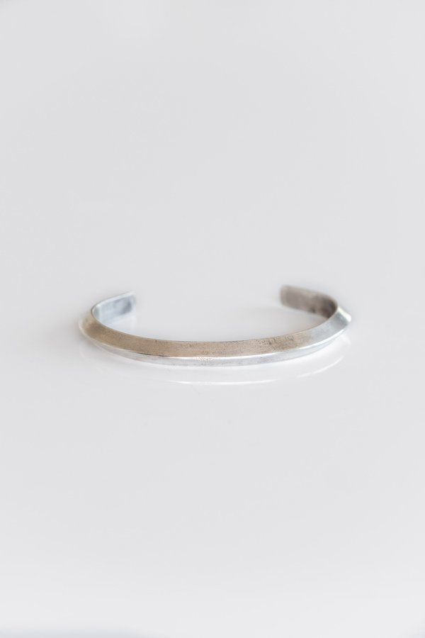 Vintage Plain Triangle Wire Cuff - Sterling Silver