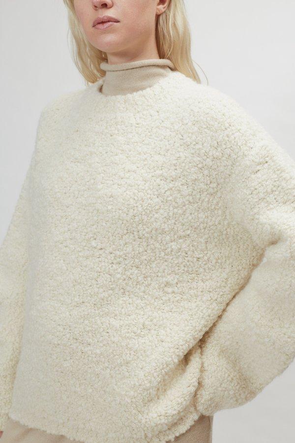 Lauren Manoogian Astrakhan Pullover - Raw White