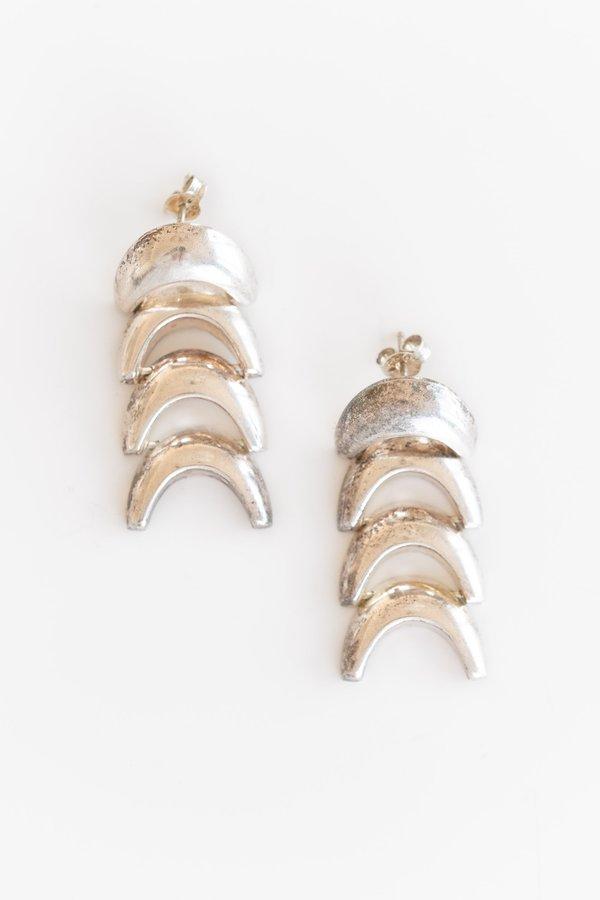 STERLING SILVER FISHBONE EARRINGS