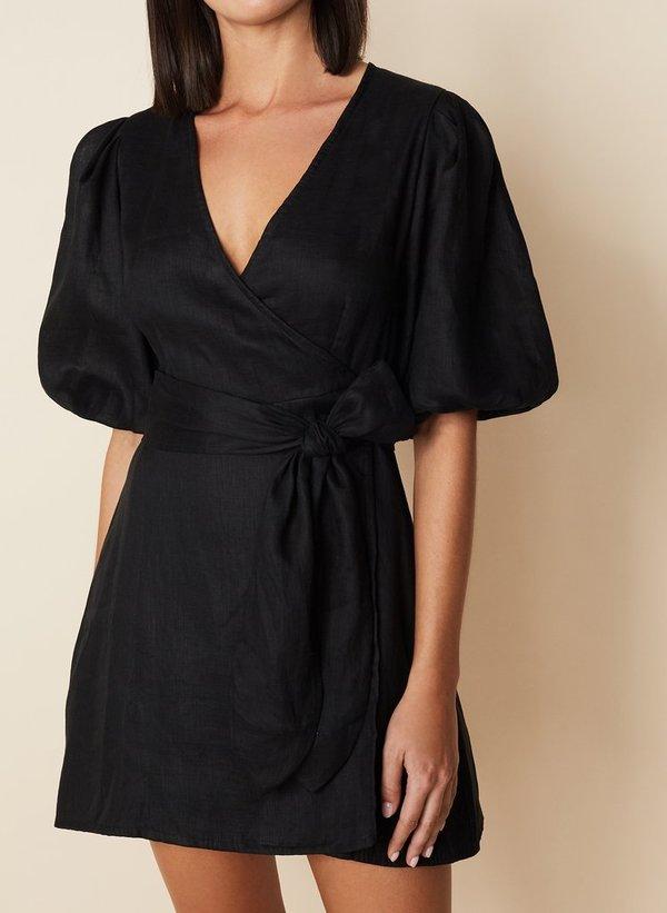 Godiva Wrap Dress | Black