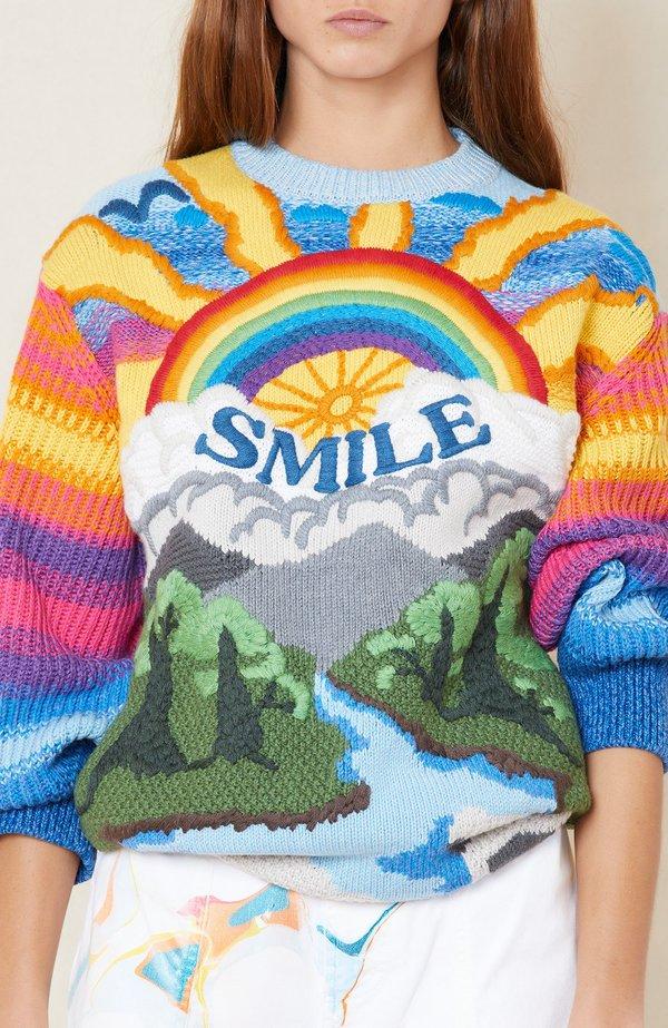 STELLA MCCARTNEY Crew Neck Jumper Intarsia sweater - 8490 MULTICOLOR