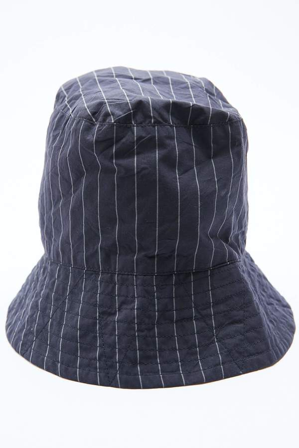 Engineered Garments Bucket Hat - Dk. Navy Nyco Gangster Stripe