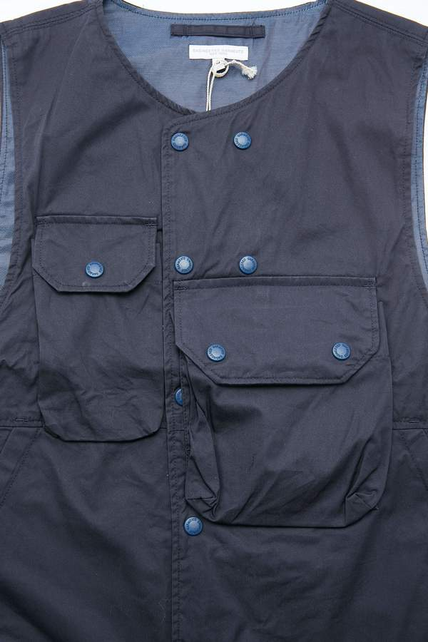 Engineered Garments Cover Vest - Dk. Navy High Count Twill