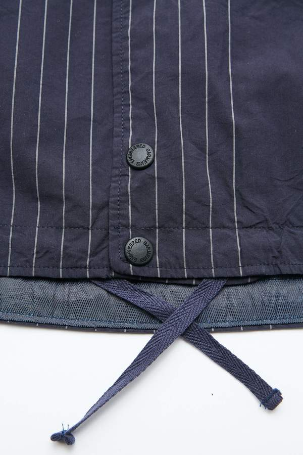 Engineered Garments Cover Vest - Dk. Navy Nyco Gangster Stripe