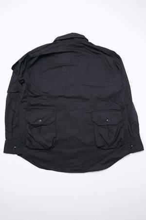 Engineered Garments Explorer Shirt Jacket - Black High Count Twill