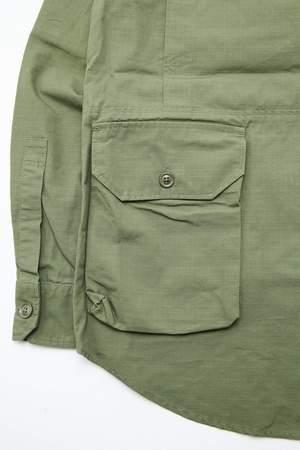 Engineered Garments Explorer Shirt Jacket - Olive Cotton Ripstop