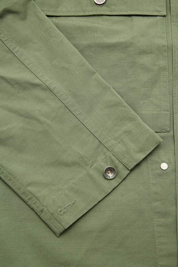 Engineered Garments M43/2 Shirt Jacket - Olive Cotton Ripstop