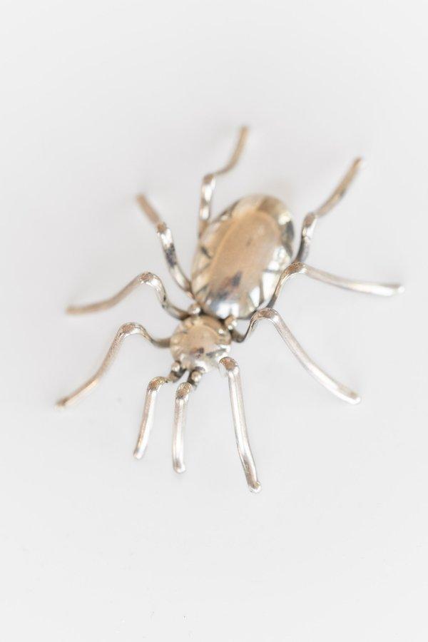 VINTAGE SPIDER PIN - STERLING SILVER