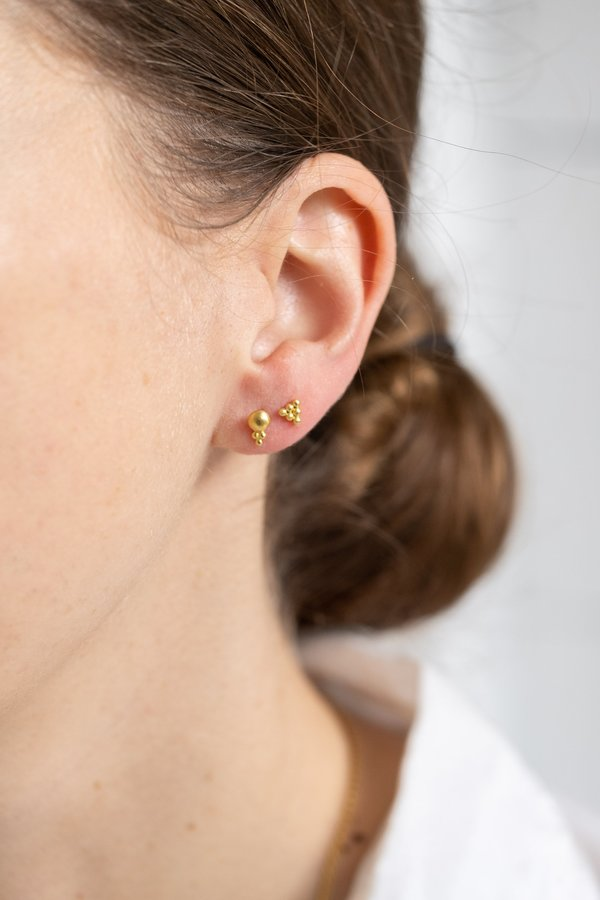 Prounis Small Lentil-shaped Bulla Earrings
