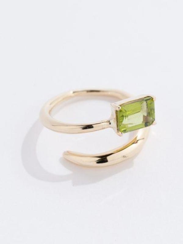 FARIS Gem Ring - Bronze/Peridot