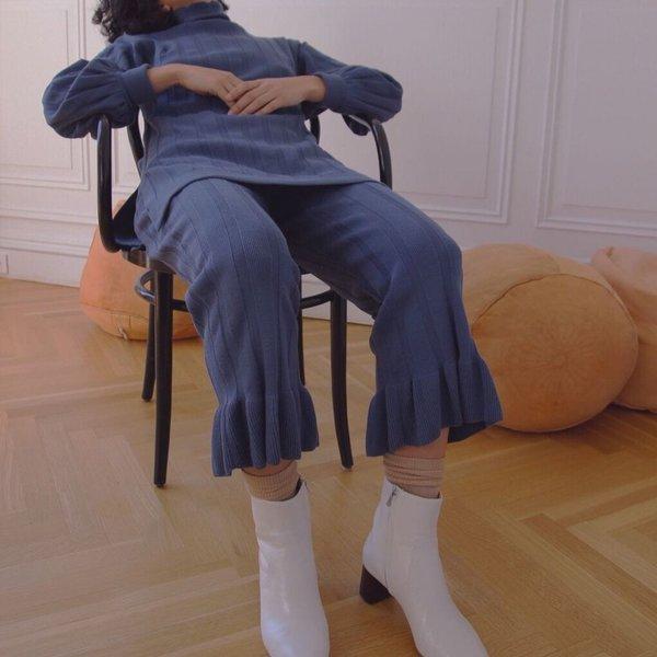 [Pre-Loved] Ajaie Alaie Slow Tempo Pants - Azure