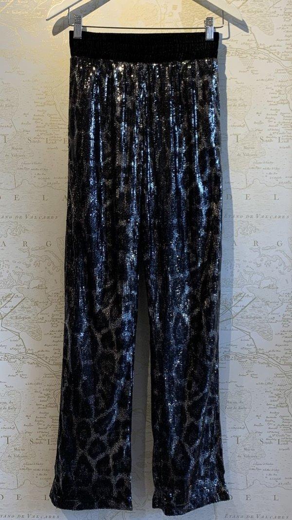 RtA Sequin Leopard Sweatpant - Ash