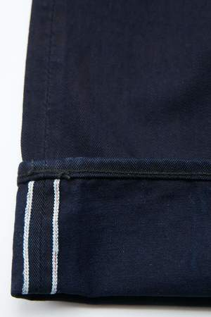 Pure Blue Japan 1150-ID Men's Woven 12oz Selvedge Twill Relaxed Tapered with One Wash Chino - Indigo