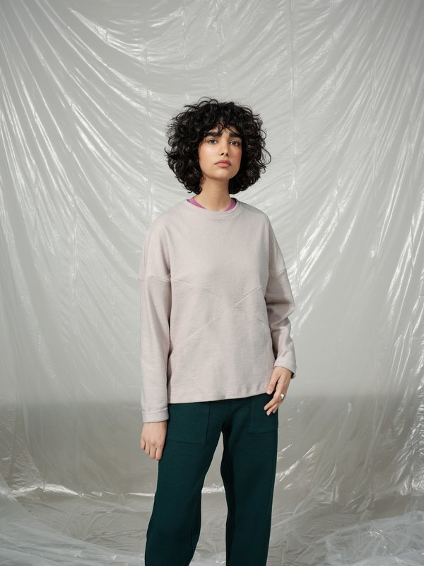 MANITOBA clay sweatshirt - XS/S with a defect in the fabric