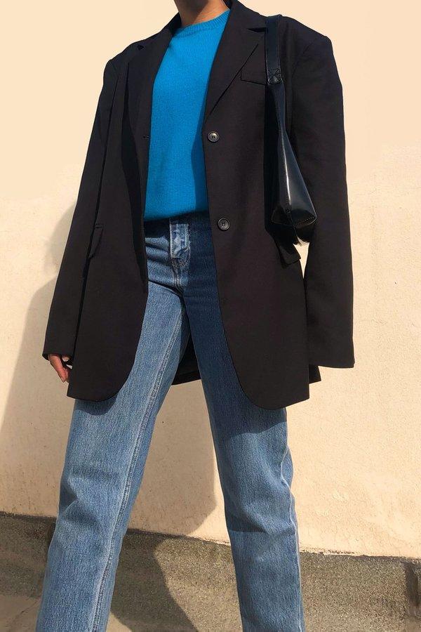 W A N T S Bright Wool Jumper - Blue