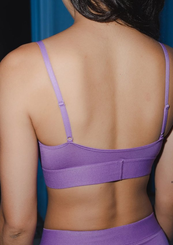 Baserange Bamboo Soft Bra - Chay Purple