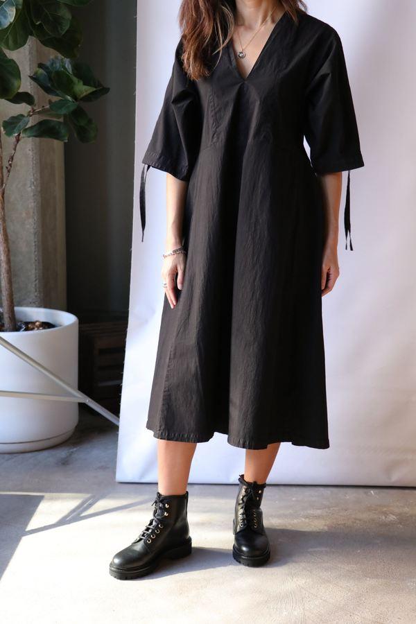 Henrik Vibskov Minute Garment Dye Dress  - Black