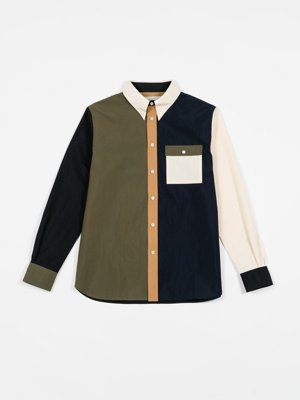 archie Weathercloth Button Down Shirt - Combo
